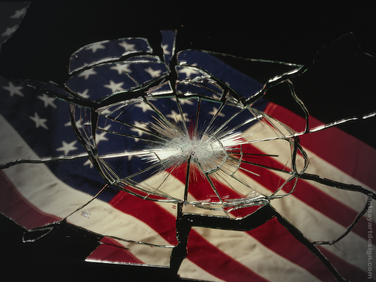 Download America wallpaper american flag glass 1280x960