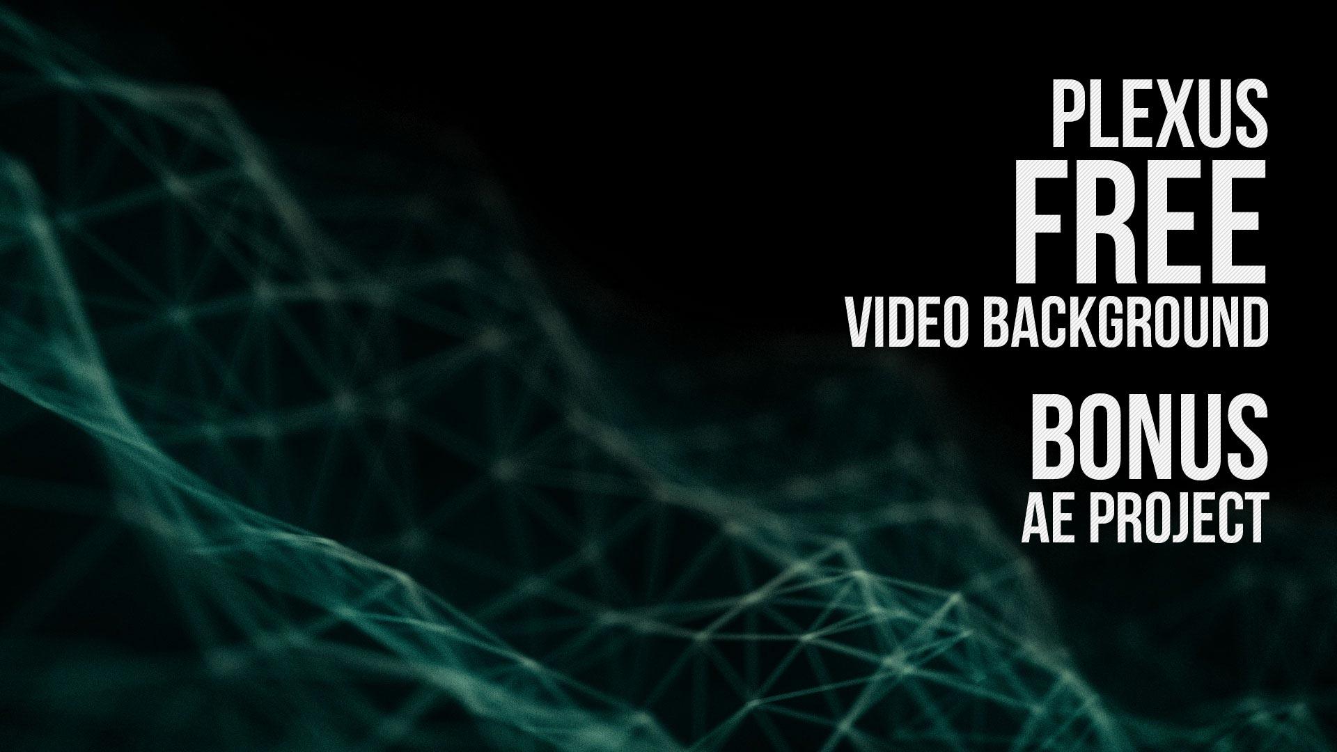 Plexus Video Background Loop Plus After Effects Template 1920x1080