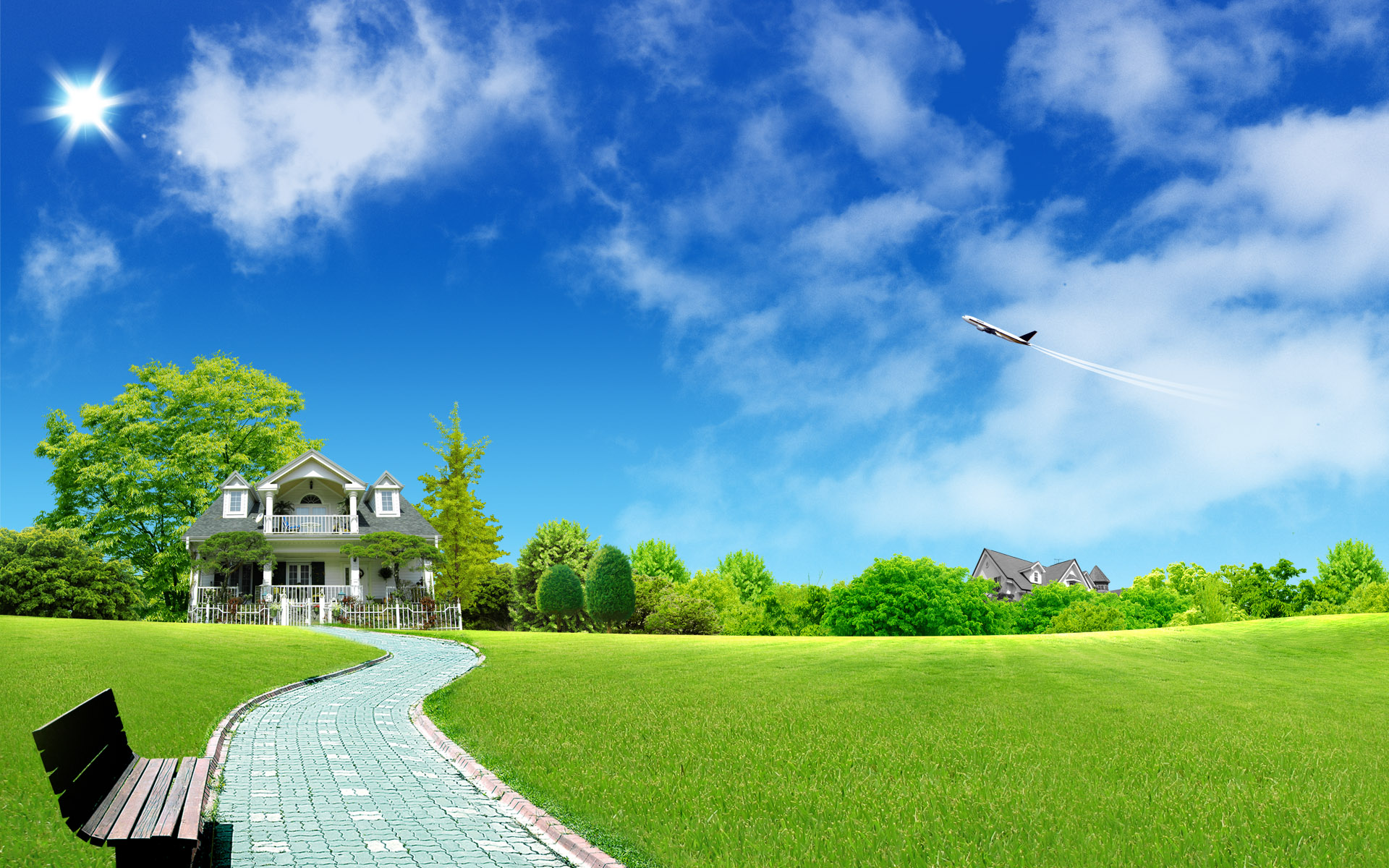 Green Home Wallpapers HD Wallpapers 1920x1200