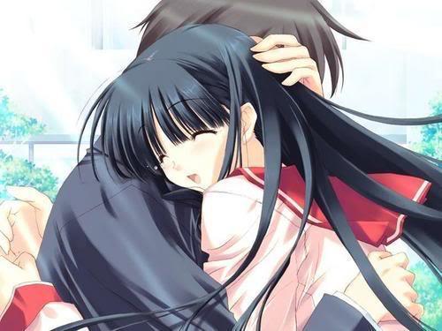 Anime hug wallpaper wallpapersafari - Anime boy hugging girl ...