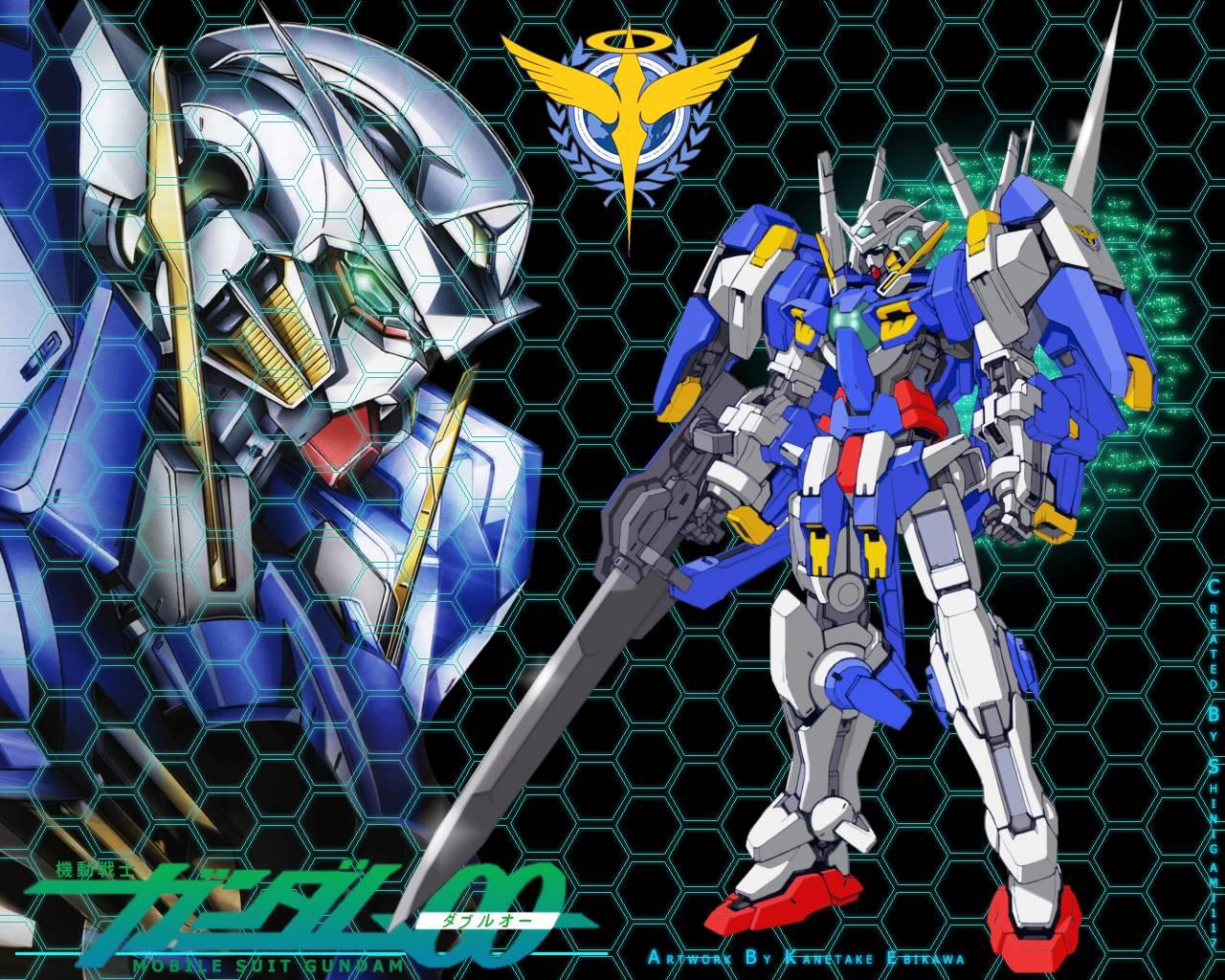 exia avalanche   Gundam 00 Wallpaper 1280x1024