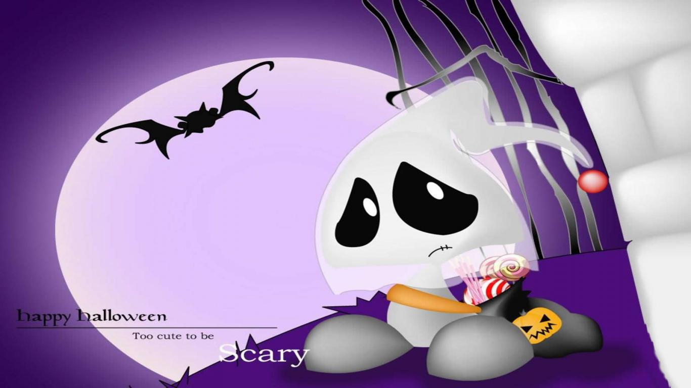 Emmas Trend Fashion and Style Cute Halloween Ghost Wallpapers 1366x768