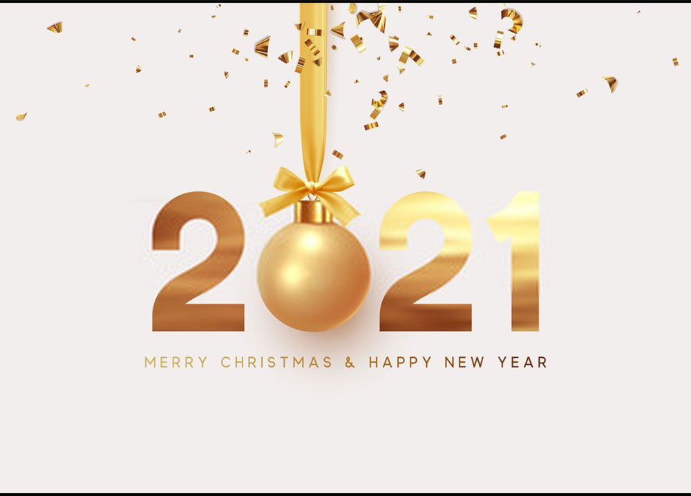 Stunning Happy New Year 2021 Wallpaper in 2020 Holiday gift card 1000x718