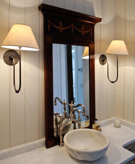 basin sink sconces shiplap via pink wallpaper tumbler com 530x640