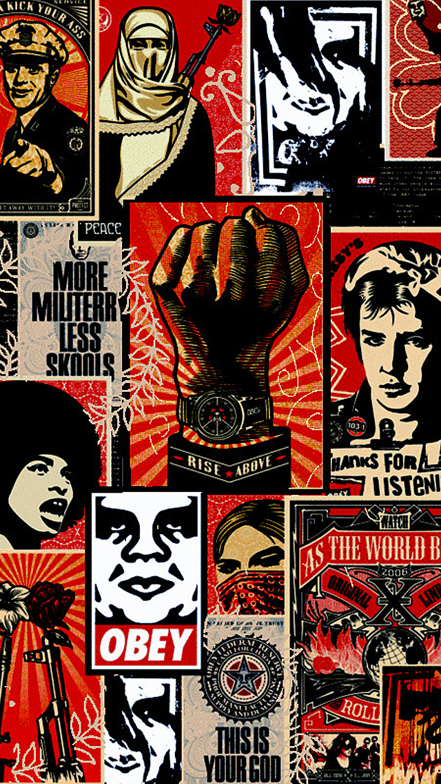 Obey iPhone 5 Wallpaper 640x1136 640x1136