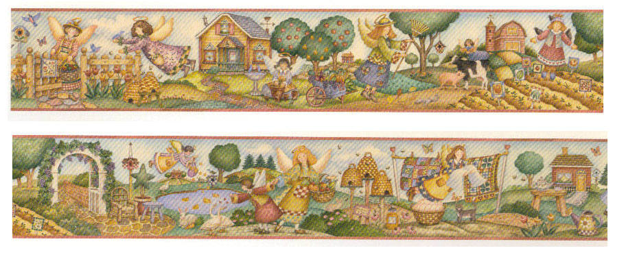 Angels Over the Garden 12 inch border 912x375