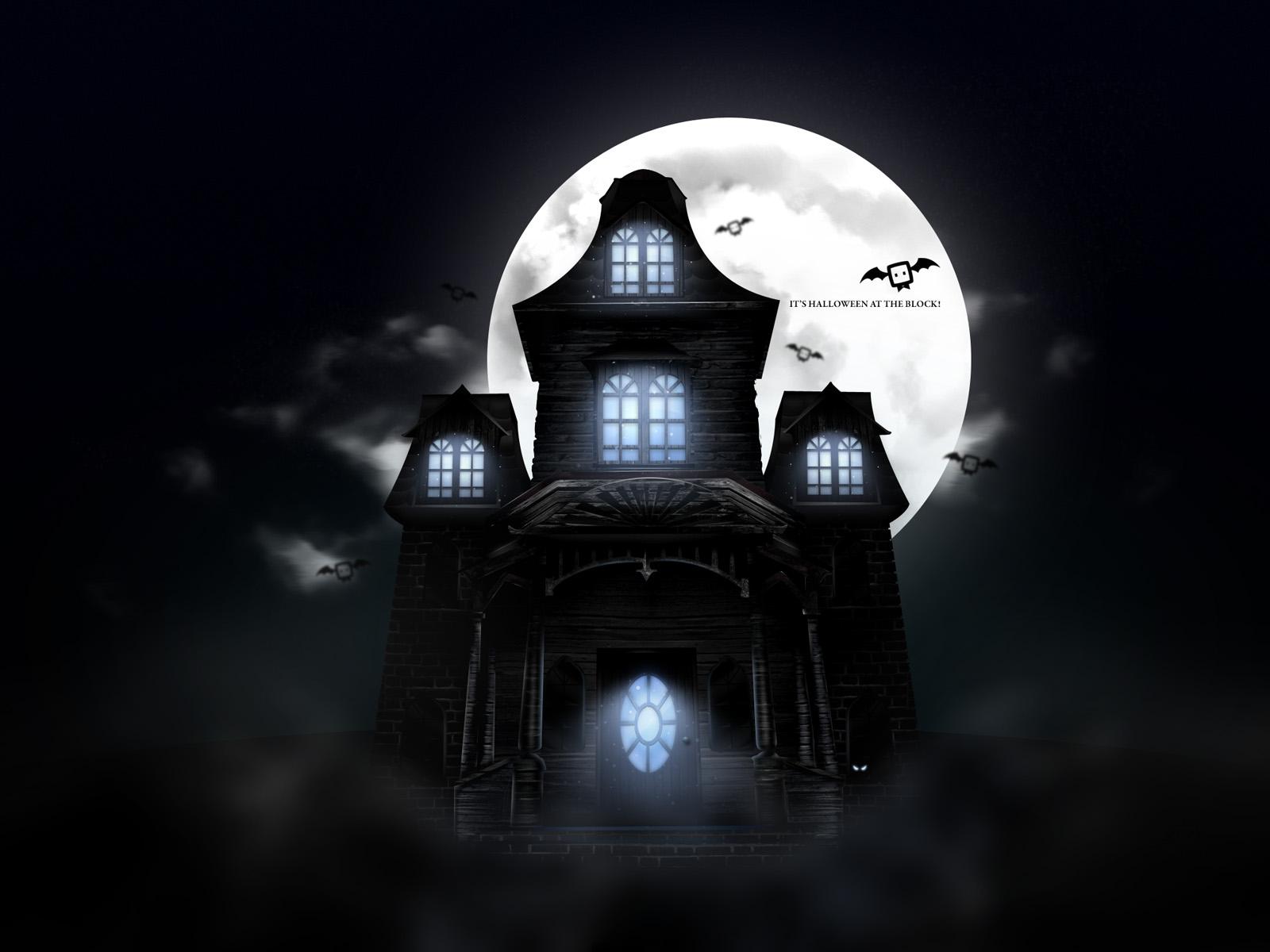 Scary Halloween 2012 Haunted House Desktop Wallpaper 1600x1200