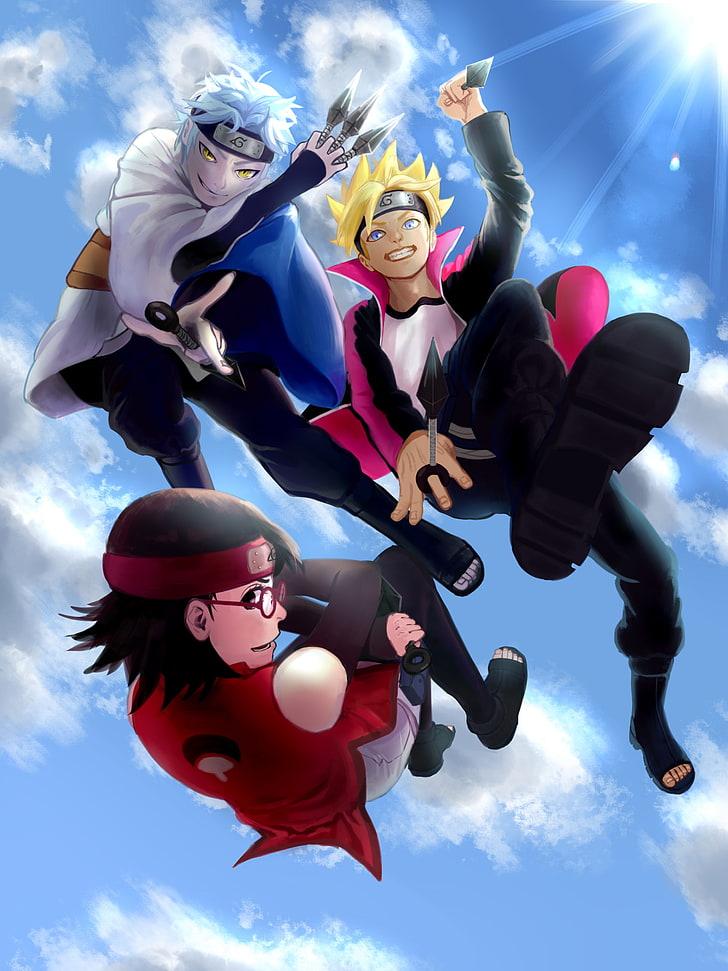 HD wallpaper boruto mitsuki uchiha sarada naruto Anime adult 728x971