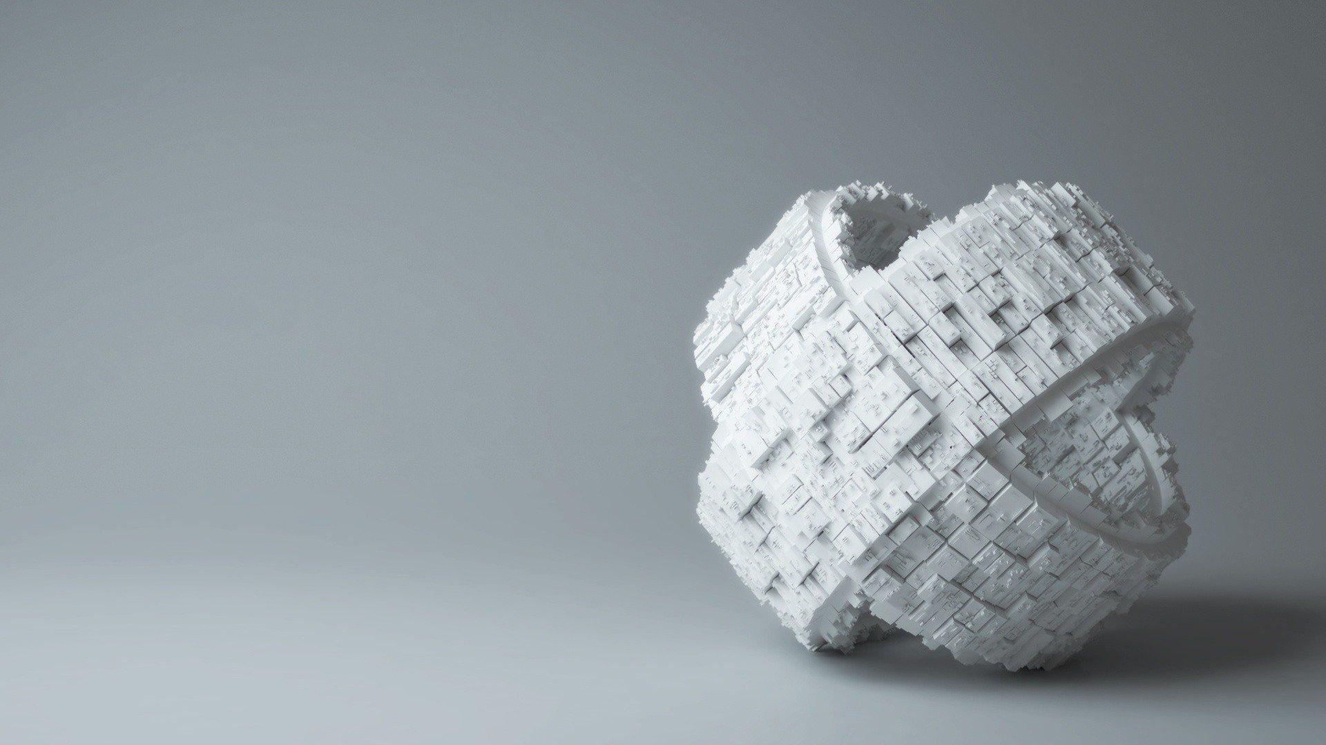 White Puzzle Piece 3D Background Wallpaper 1920x1080