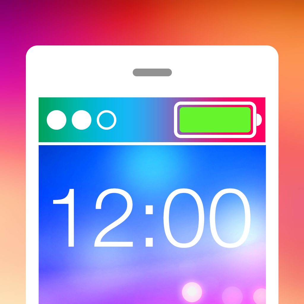 Report Overview Fancy Status Bar Effects   Make Cool Custom Wallpapers 1024x1024