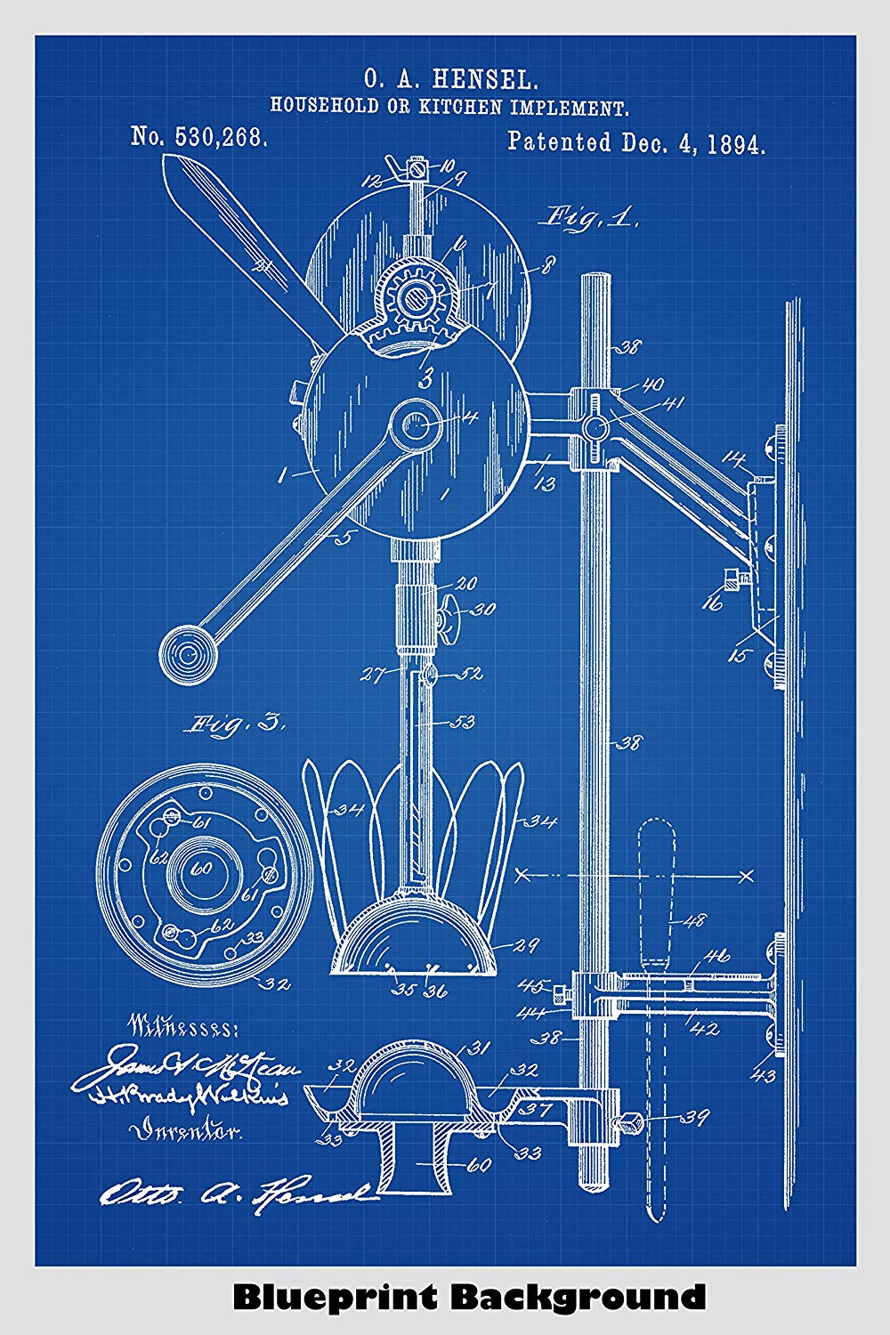 Amazoncom Combination Hand Mixer And Juicer Poster Patent Print 1000x1500
