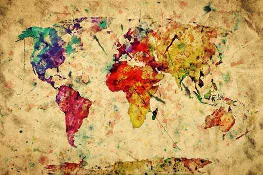 World Map Murals Bring the World to Your Walls   Custom Wallpaper 525x349