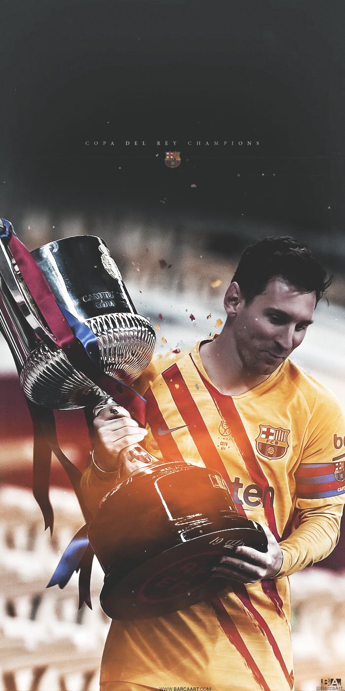 Lionel Messi barcaart 700x1400