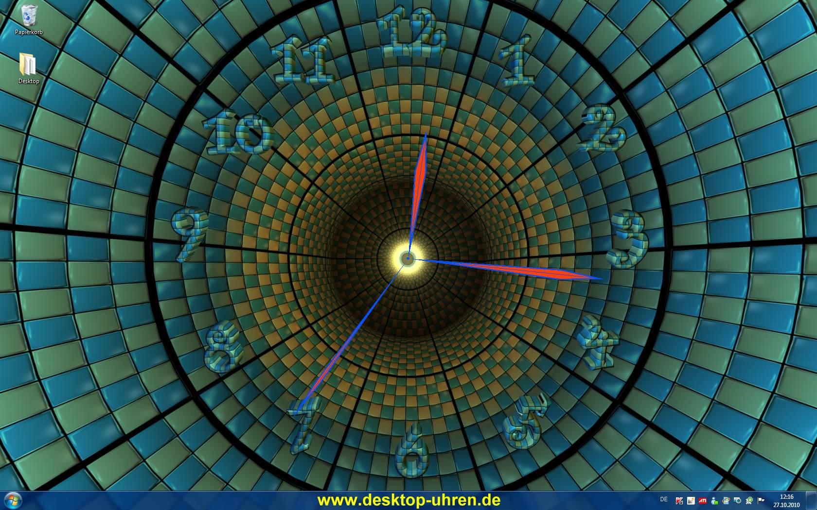 50] 3D Clock Wallpaper Download on WallpaperSafari 1680x1050