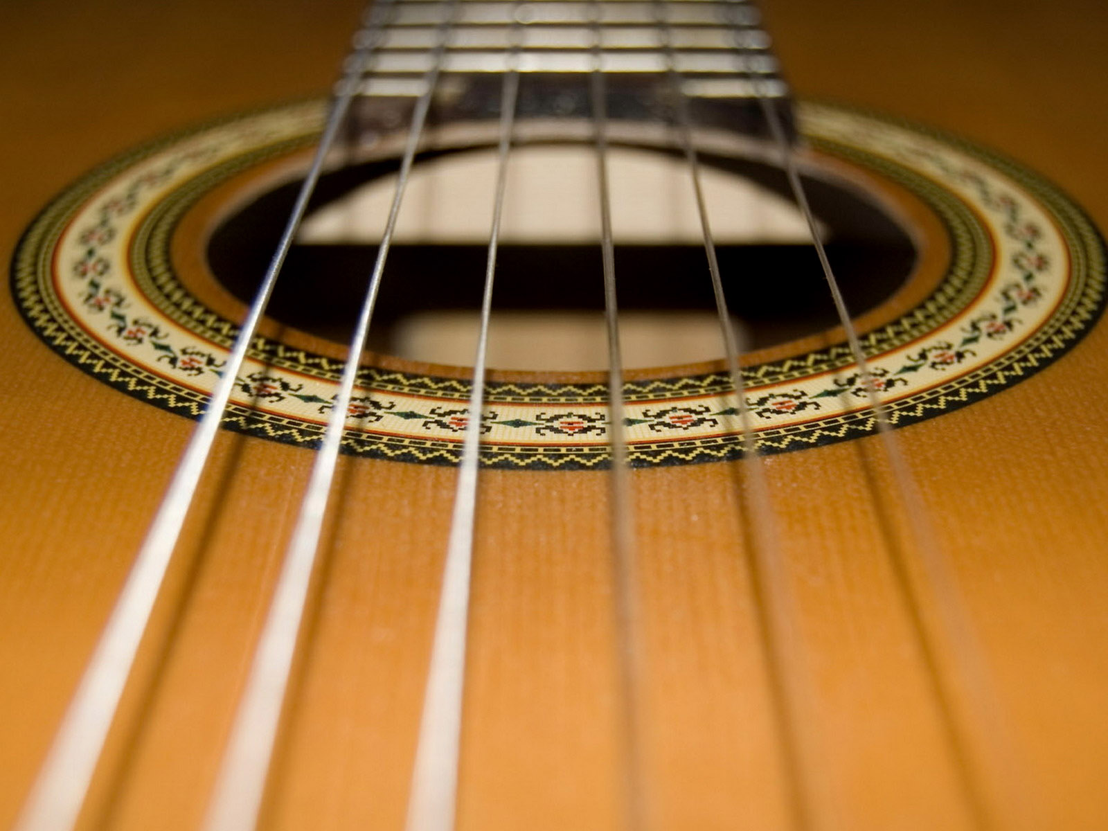 Guitar Wallpaper   Classical Guitar Soundhole Inlay Nylon Strings 1600x1200