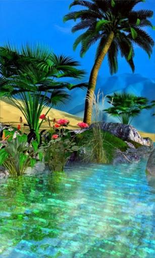 307x512px Desert Oasis Wallpaper Wallpapersafari