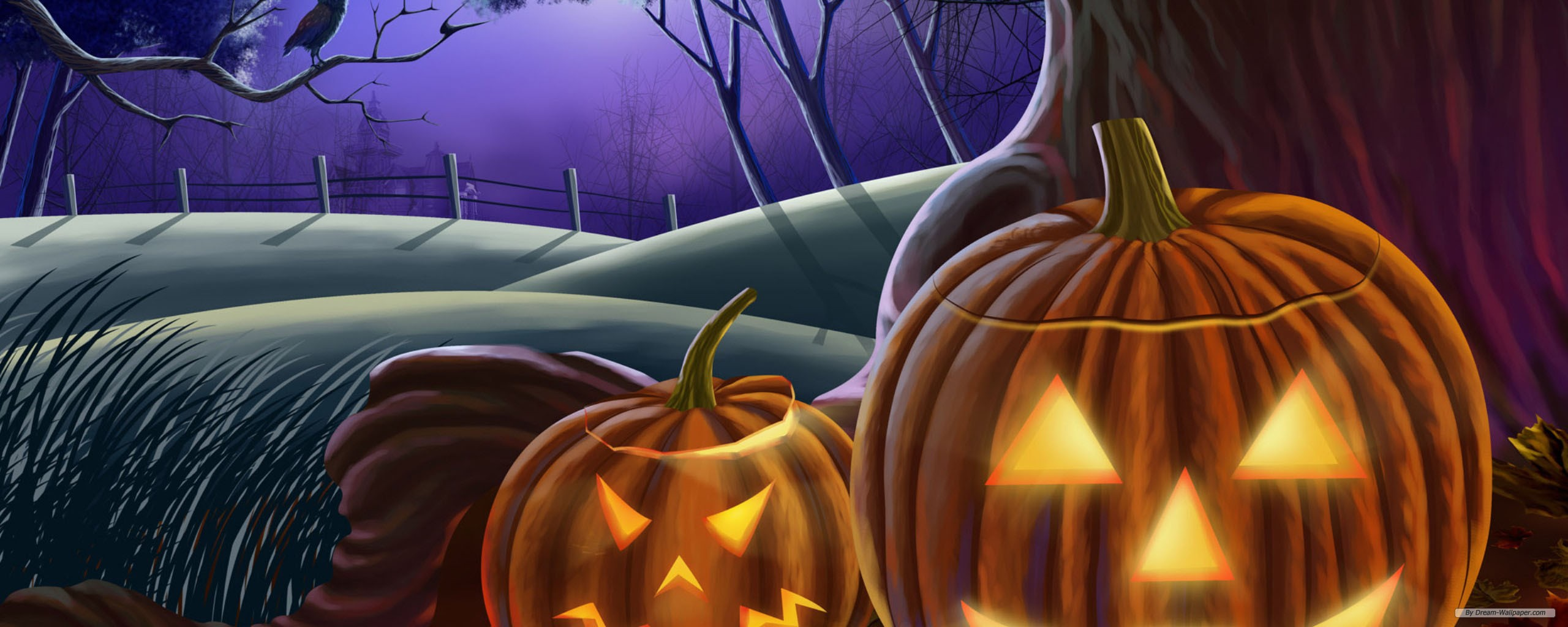 holiday wallpaperhalloween episode 6 wallpaperdual screenfree 2560x1024