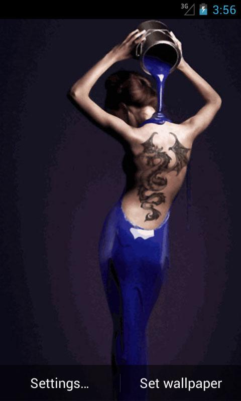 Ink Tattooed Girl Wallpapers 480x800
