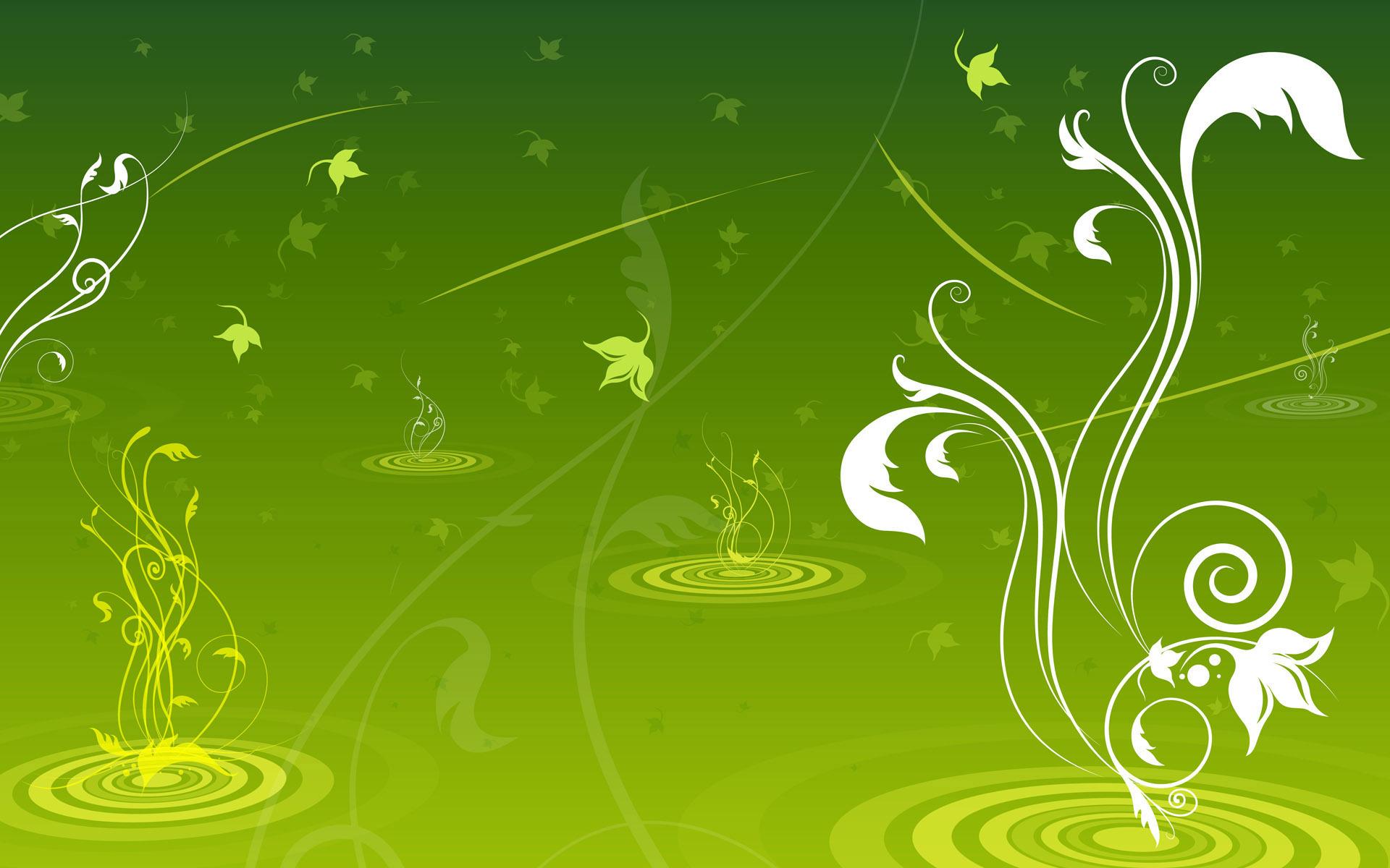 Green Swirls Wallpaper   Green Wallpaper 20988856 1920x1200