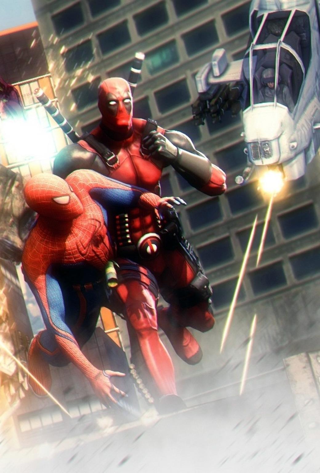 Deadpool And Spider Man Hd Wallpaper 1040x1536
