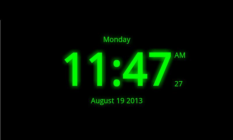 Digital Clock Live Wallpaper 7 800x480