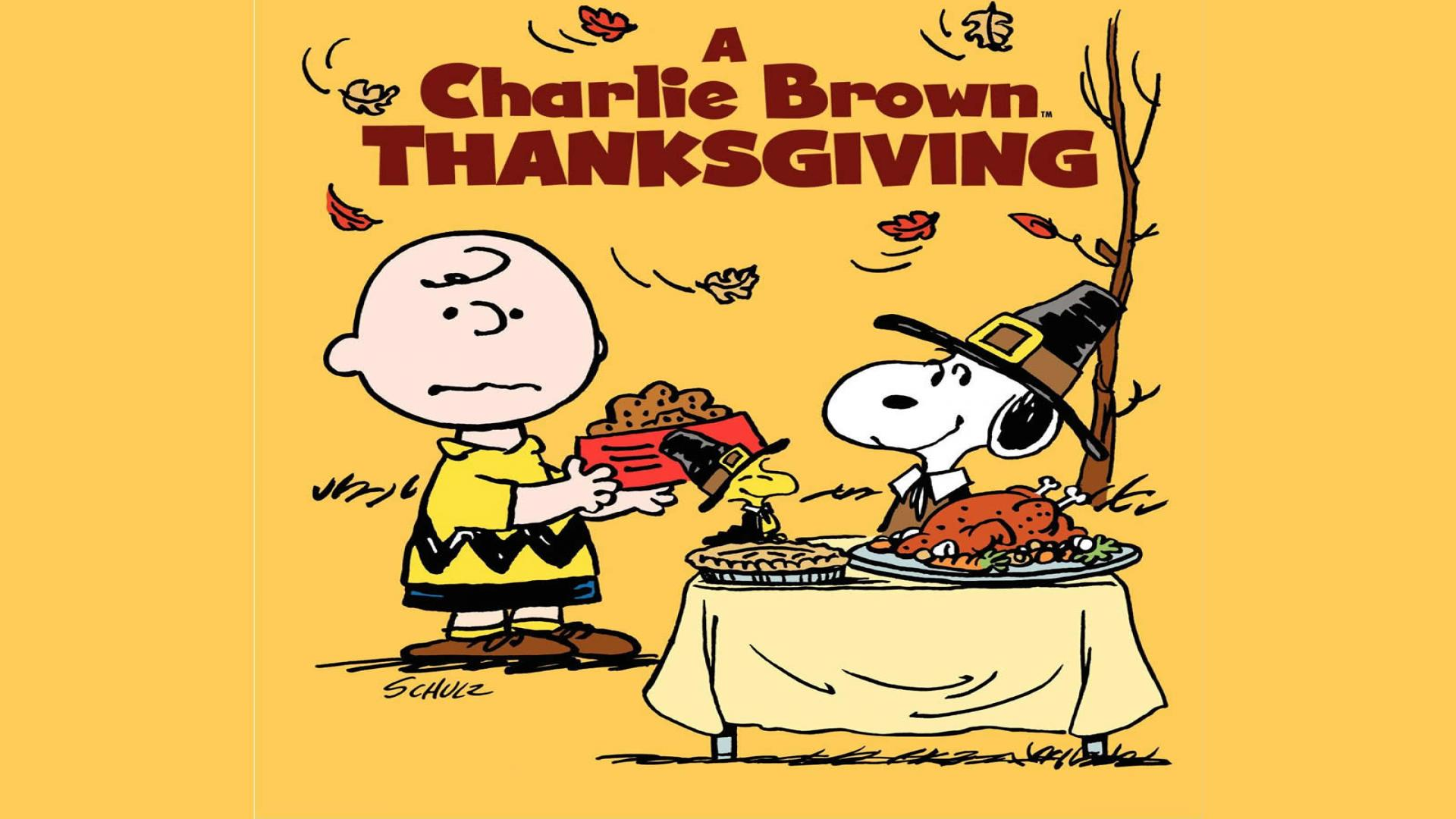 Charlie Brown Peanuts Thanksgiving Wallpaper   snoopy thanksgiving 1920x1080