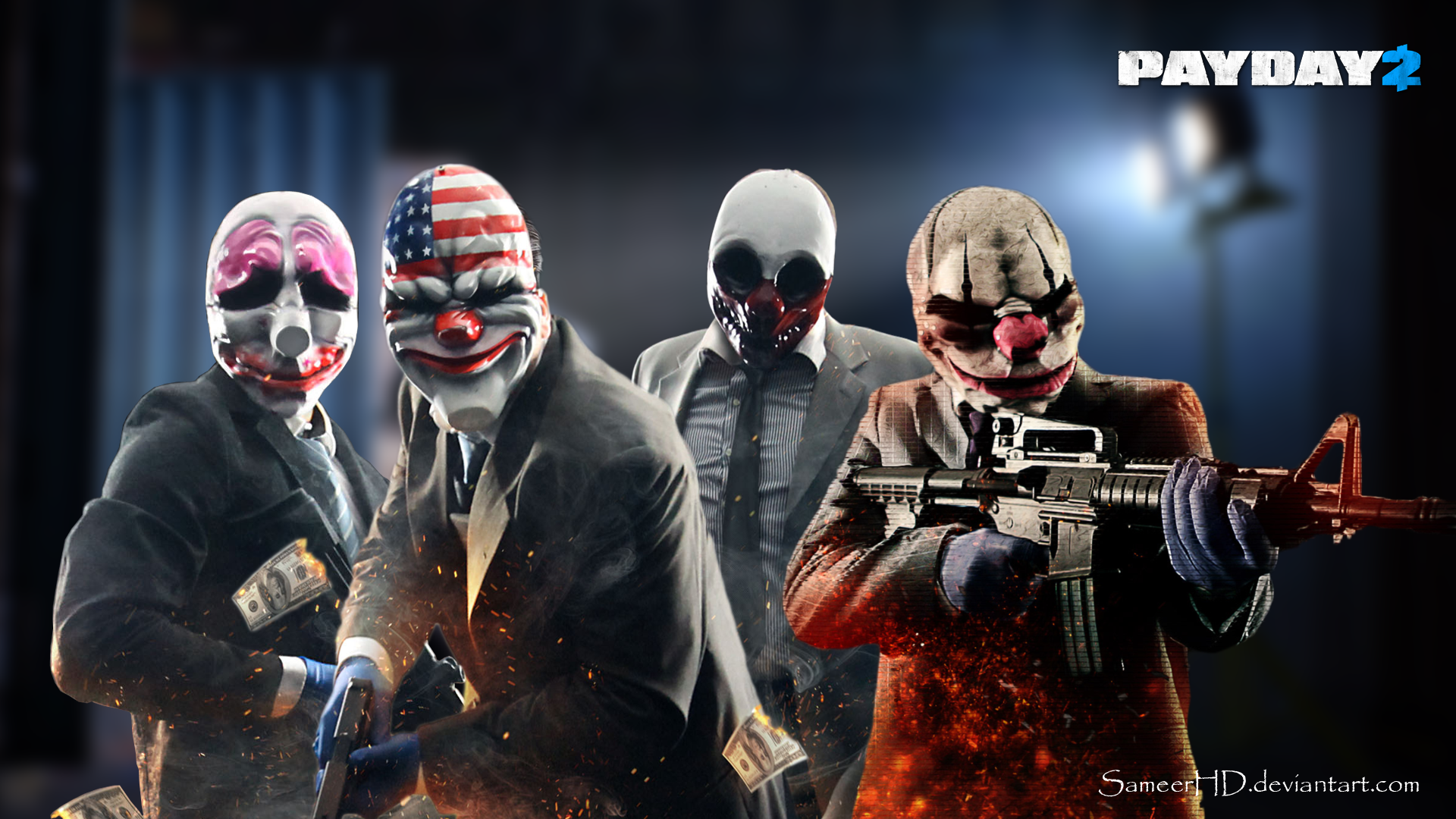 Payday 2 Gang Wallpaper by SameerHD 1920x1080