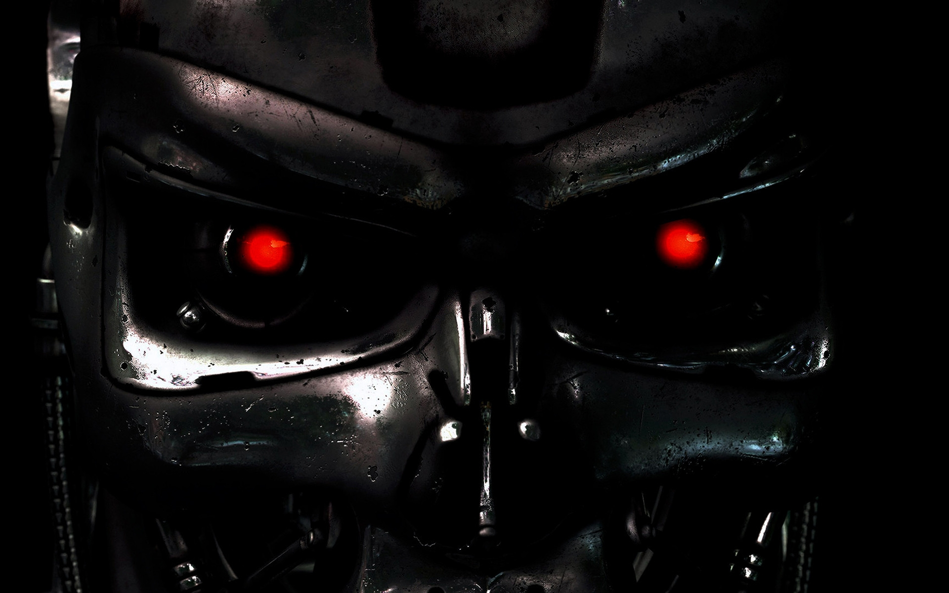 Free Download Abstract Wallpaper Terminator Red Eyes Hd