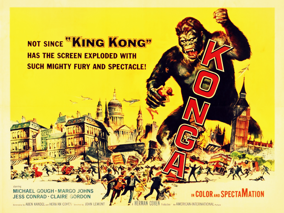1152x864 Vintage Cinema Konga desktop PC and Mac wallpaper 1152x864