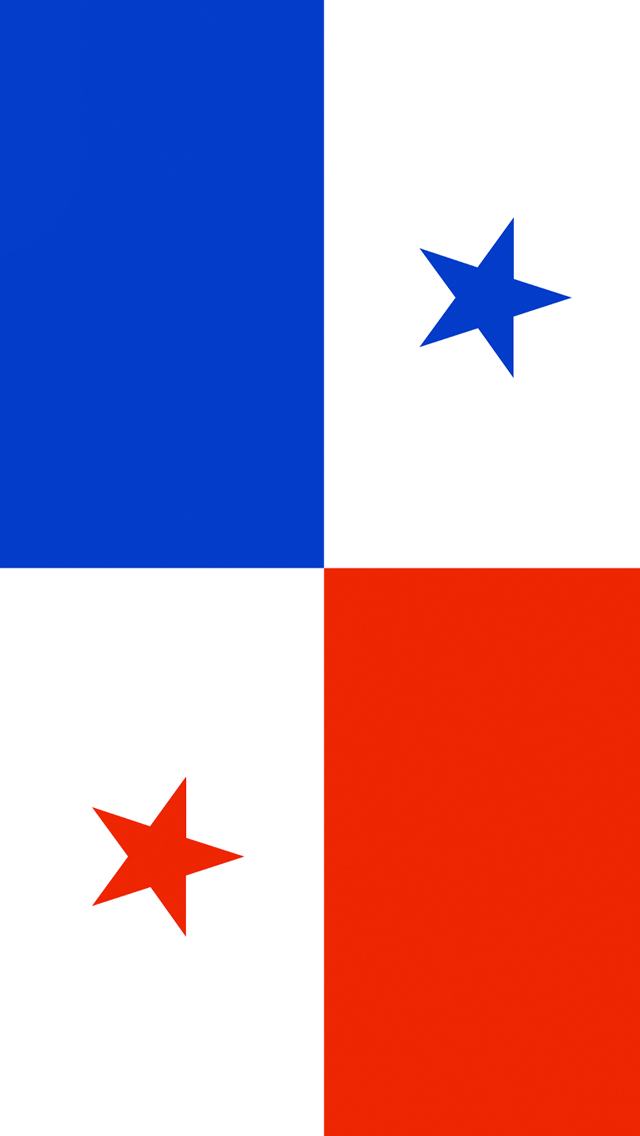 Panama Flag iPhone Wallpaper HD 640x1136