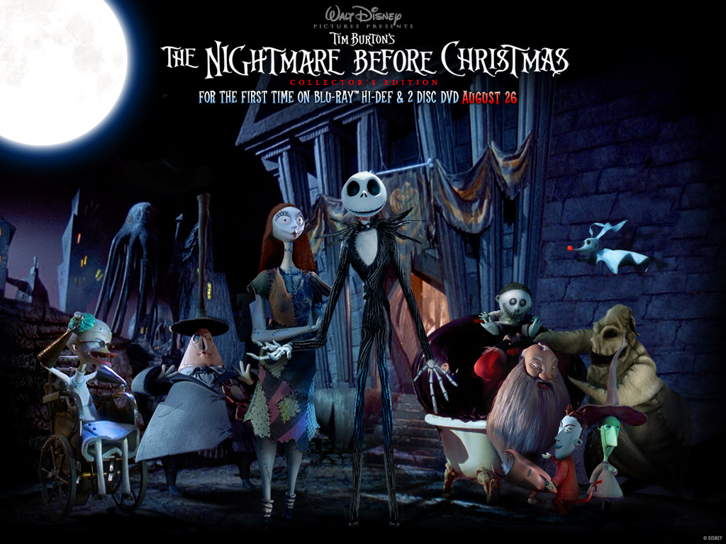 The Nightmare Before Christmas desktop wallpaper 1024 x 768 pixels 1024x768
