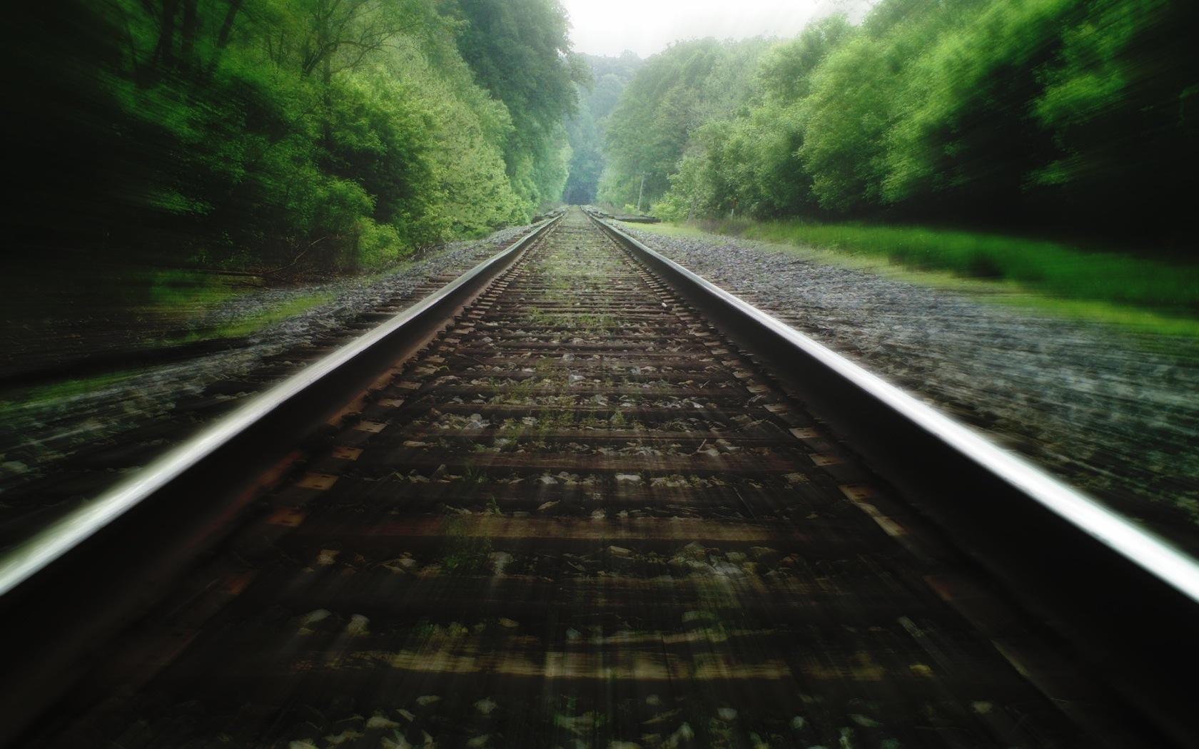 railroad tracks HD Wallpaper   Trains Buses 1201552 1680x1050