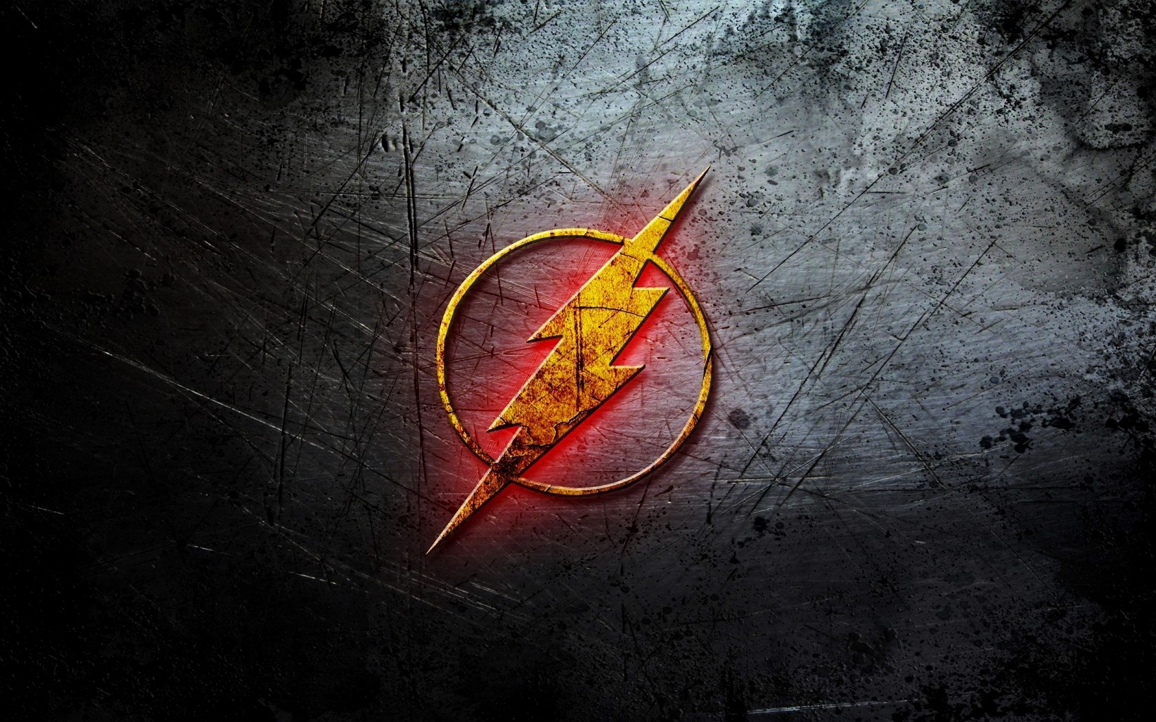 logo The Flash logo HD wallpaper 1680x1050