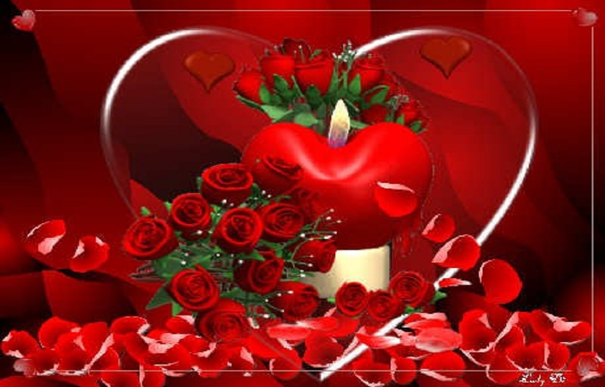 1200x768px red rose heart wallpaper - wallpapersafari