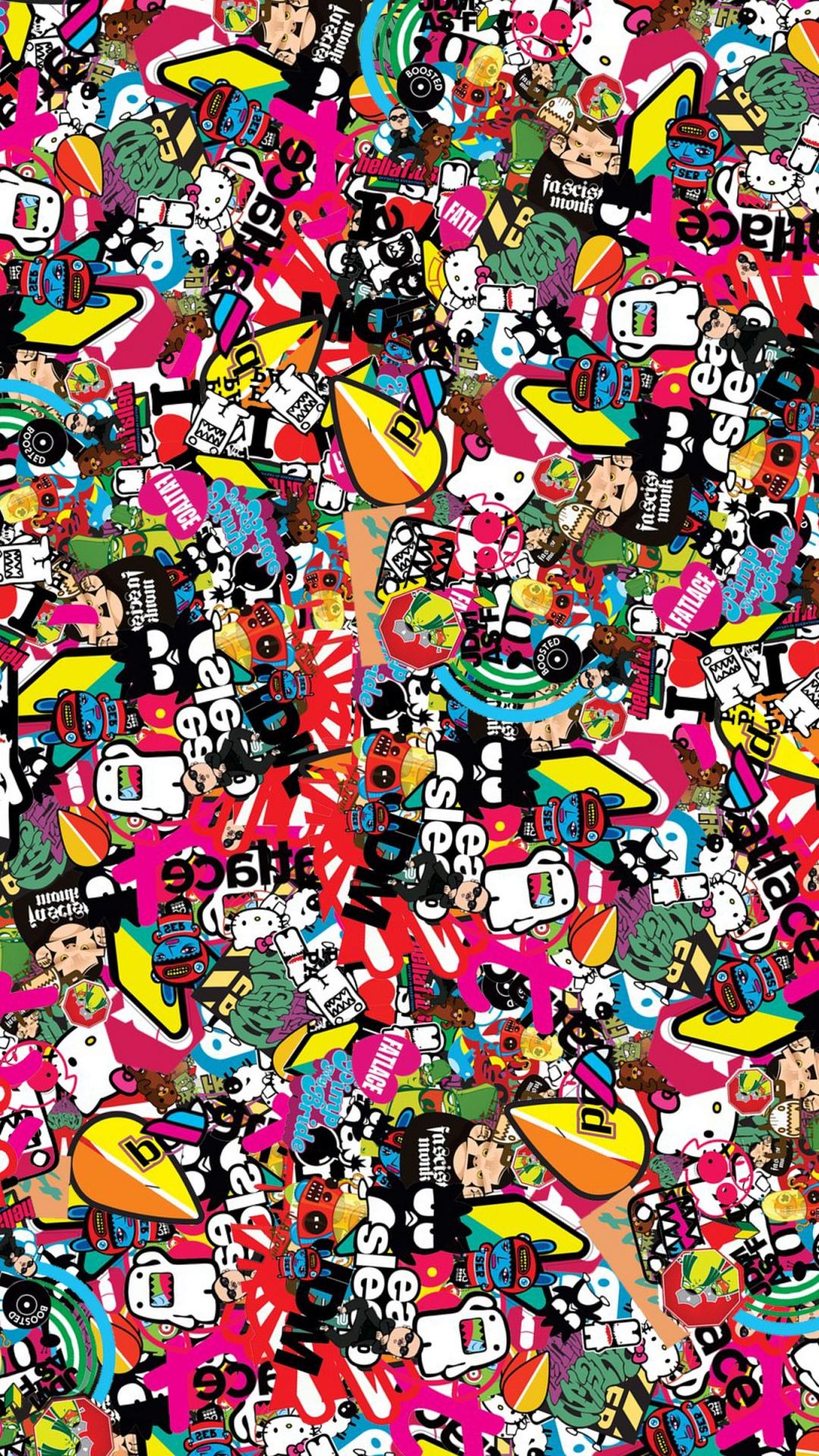 Jdm Background Style Sticker Texture Wallpaper   1080x1920 1080x1920