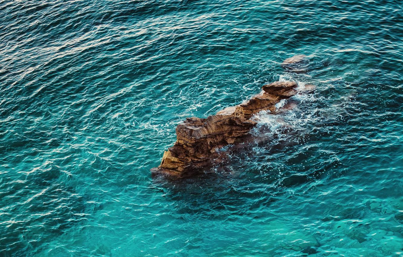 Wallpaper sea ocean nature water rocks height ripples 1332x850