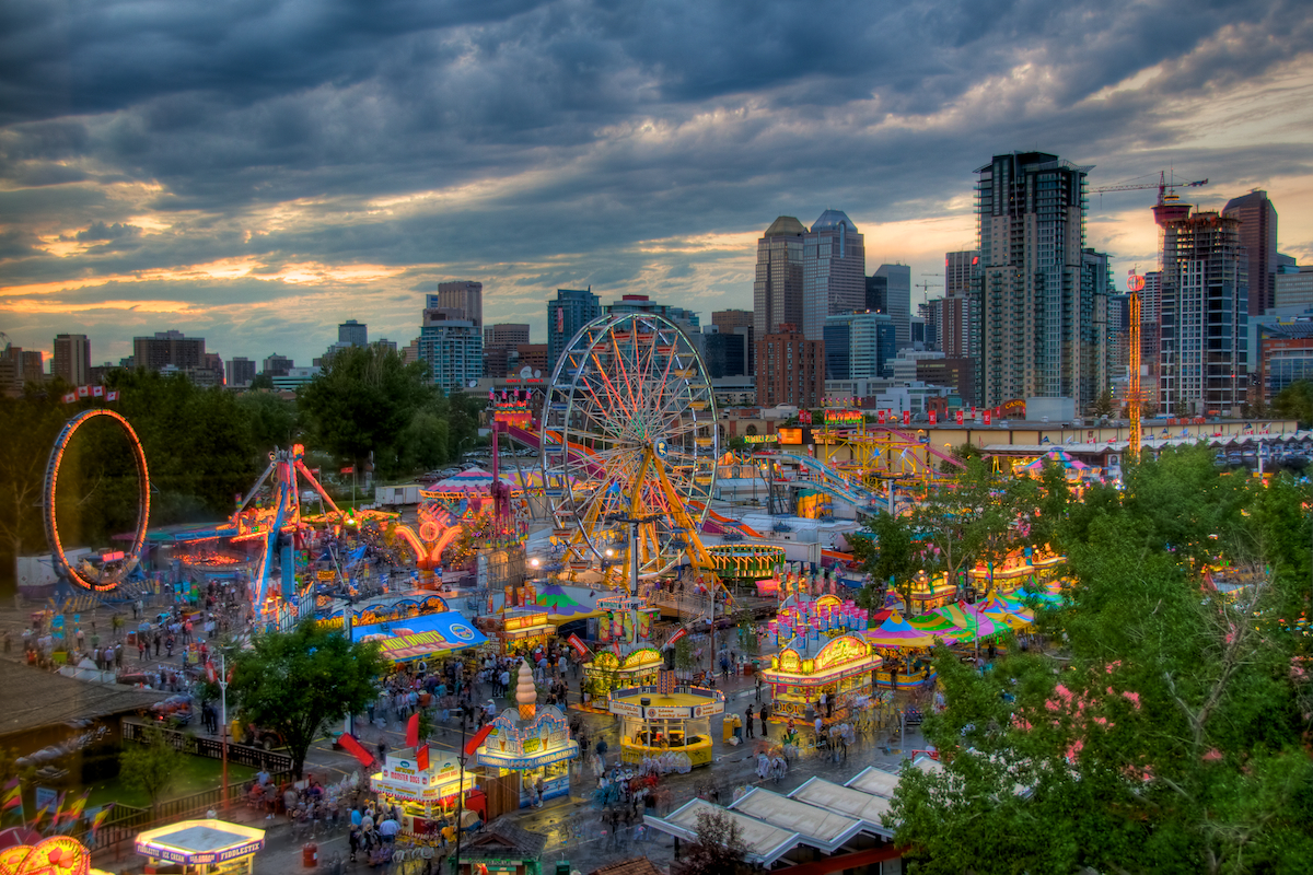 of the Calgary Stampede with the Calgary skyline in the background 1200x800