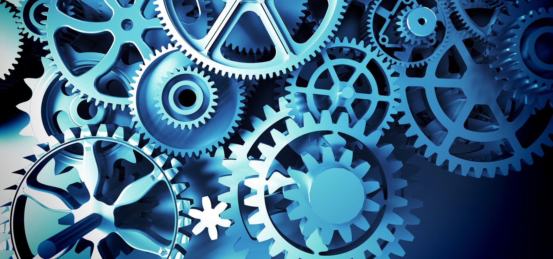 Mechanical Gear Technology Background Mechanical gears 1920x900