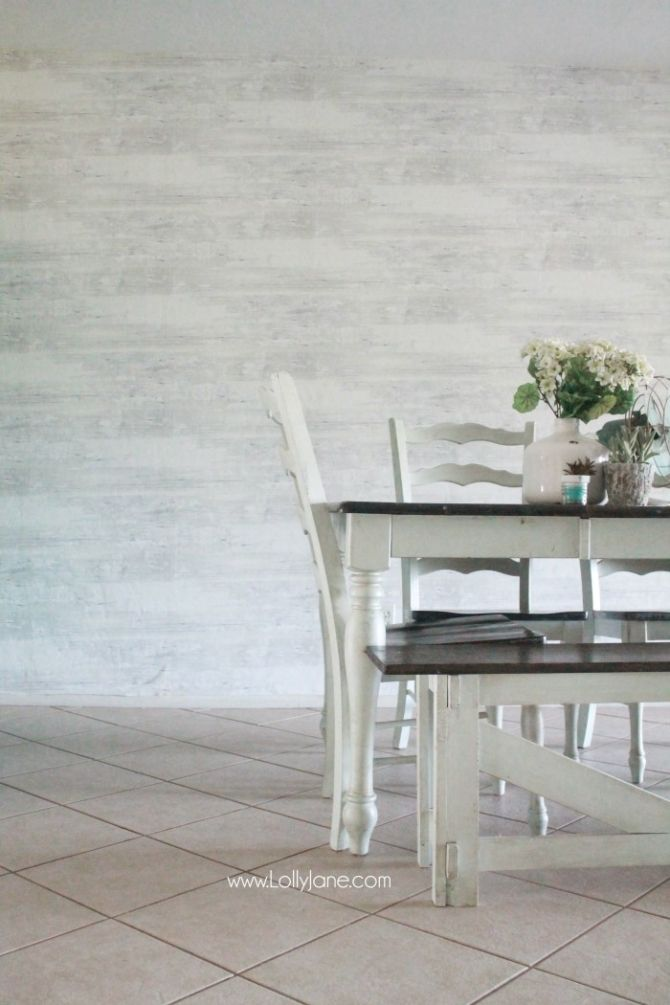 Faux wood wallpaper from Walls Republic a fast alternative to shiplap 670x1005