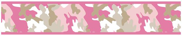 camo pink wallpaper border item border camo pk pink and khaki camo 622x125