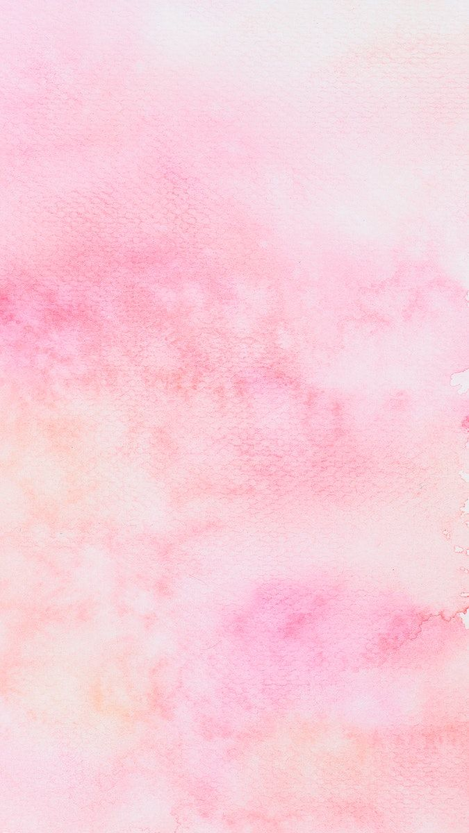 Abstract pink watercolor textured phone background image by 675x1200