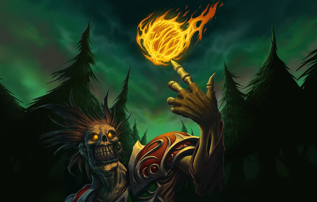 Wallpaper WoW World of Warcraft undead fireball images for 1332x850