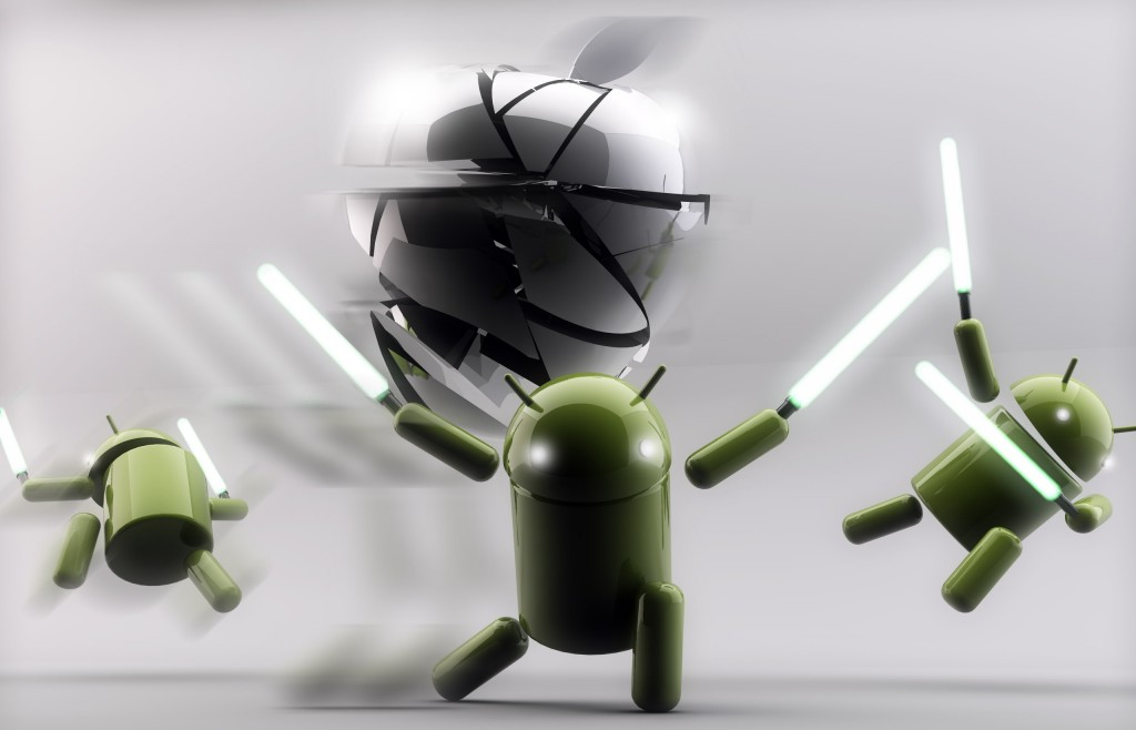 Android vs Apple   Funny Wallpapers for Android FansDzineblog360 1024x658