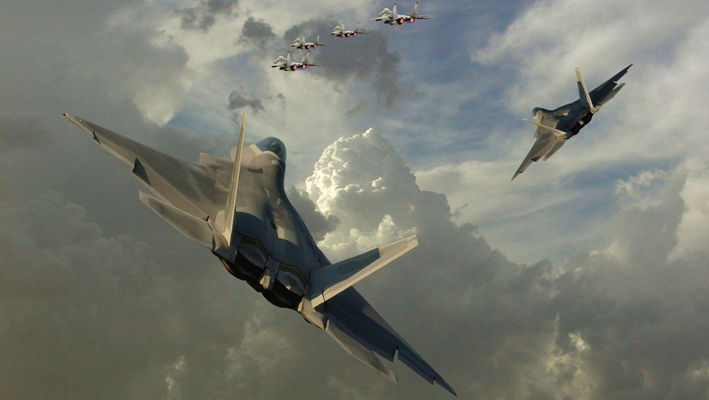 Lockheed Martin F 22 Raptor Widescreen Wallpaper   7274 1360x768