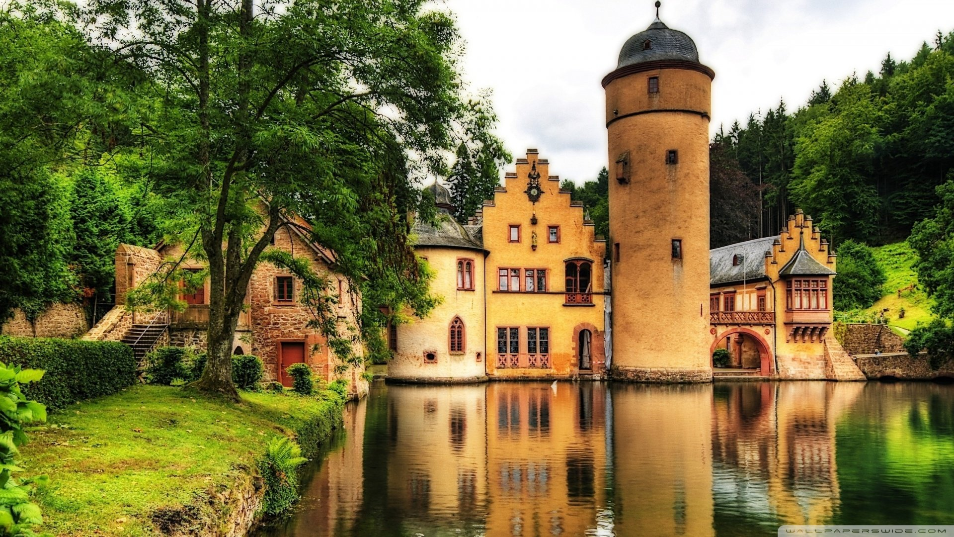 castle germany wallpaper 1920x1080 mespelbrunn castle germany