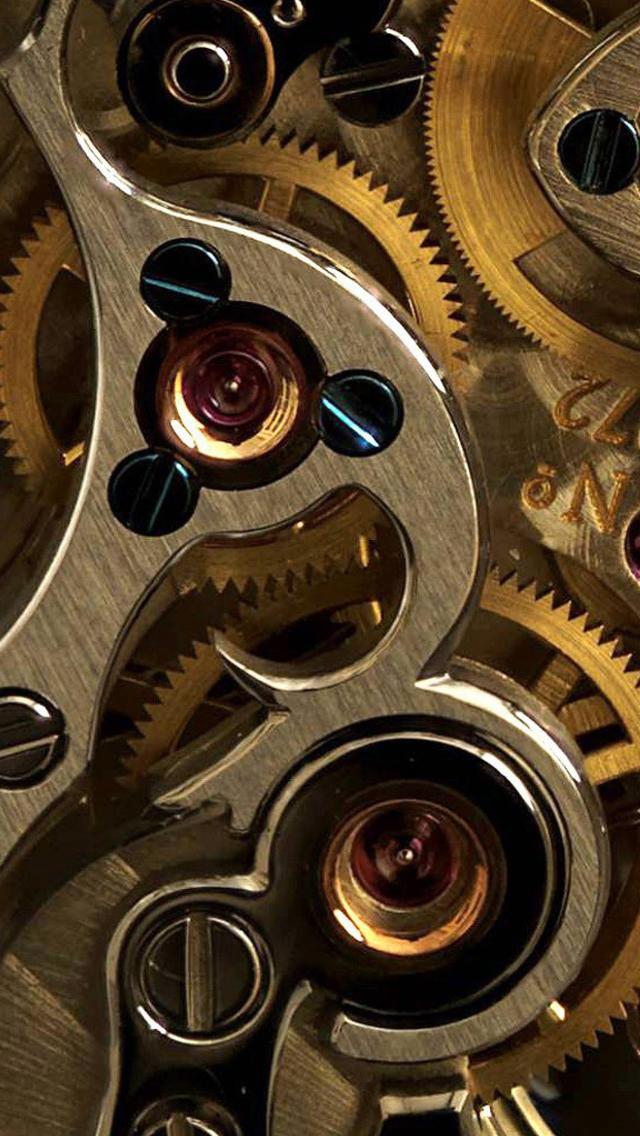 Golden Watch Gears iPhone 5s Wallpaper Download iPhone Wallpapers 640x1136