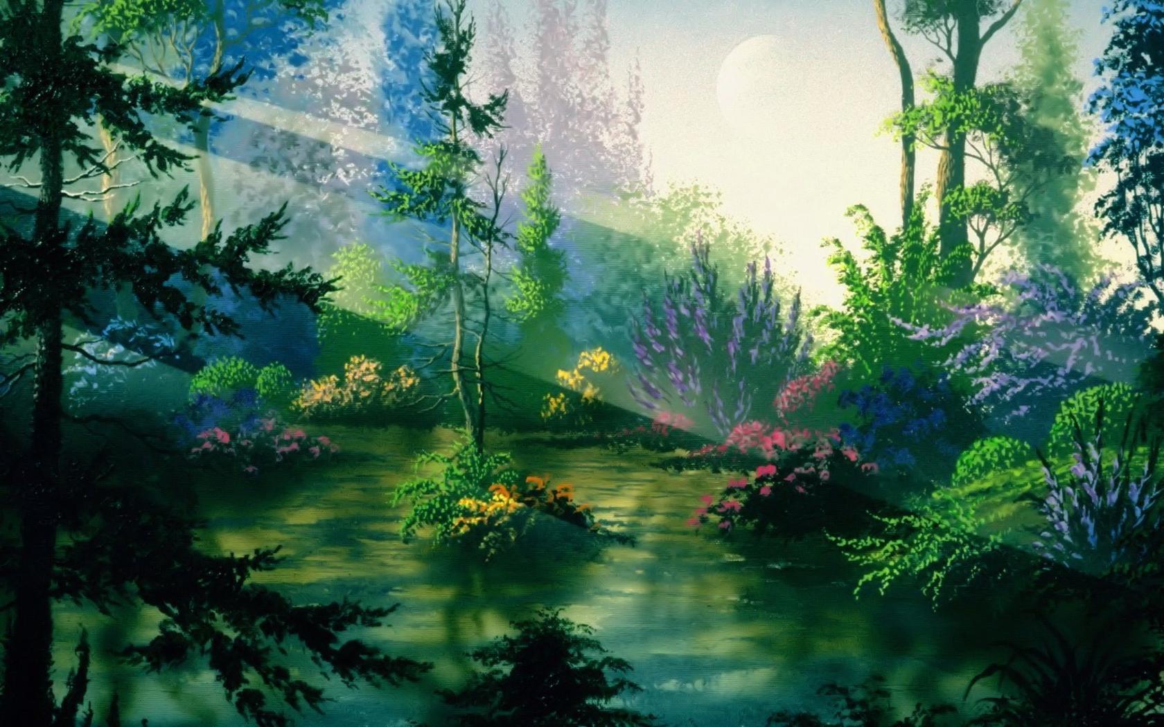 Wallpaper Forest Nature Scenery 2788 Wallpaper Wallpaper hd 1680x1050