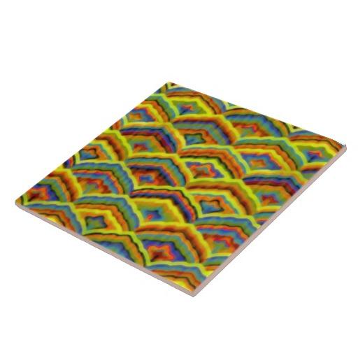 Colorful Art Deco Vintage Wallpaper Tile Zazzle 512x512