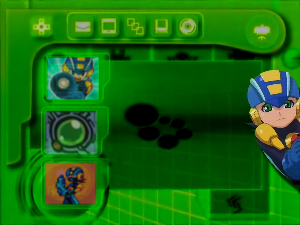 50 pet megaman exe 1024x768 my favorite pose for mm inside of his pet 1024x768