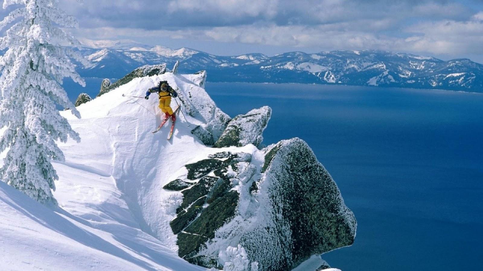 Skiing wallpaper wallpapersafari - Ski wallpaper ...